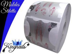 100 Moldes Stiletto Para Esculpir Uñas