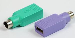 Adaptador Conector Usb Hembra A Ps2 Macho Mouse Y Teclado