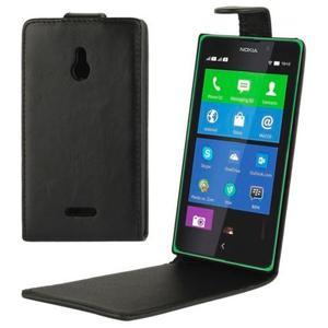 Caballo Vertical Cuero Para Nokia Xl Blanca