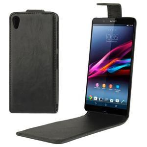 Caballo Vertical Cuero Para Sony Xperia Z2 L50w