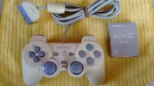 Control Playstation 1 Original Y Memori Card Psone