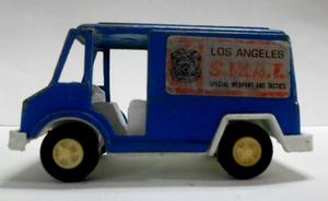 Vintage Camioneta Panel S.w.a.t.(hierro Fundido)tootsie Toy