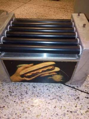 Maquina De Perro Caliente Con Calentador De Pan Electrica