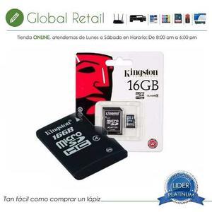 Memoria Kingston Micro Sd 16gb Con 1 Adaptador Clase 10 Sdhc