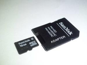 Memoria Micro Sd 16gb + Adaptador Sandisk