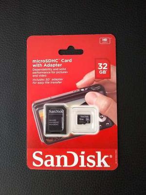 Memoria Micro Sd 32 Gb Nuevas Y Originales Class 4