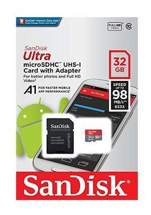 Memoria Micro Sd 32 Gb Sandisk Ultra Hd Clase 10