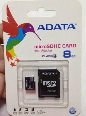 Memoria Micro Sd Adata 8 Gb Clase 4