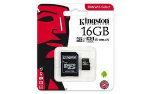 Memoria Micro Sd Hc 16gb Kingston Clase10 Original Sellada