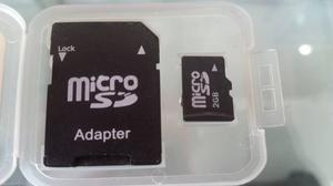 Tarjeta Micro Sd, Memoria Sd, 2gb,con Adaptador Y Estuche