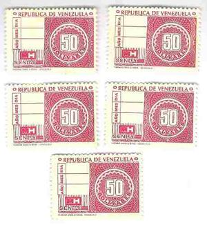 Timbres Fiscales De 50 Bolívares