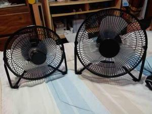 Ventiladores Recargable De 9 Y 11 Pulgadas En Metal