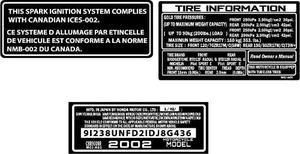 Calcomania Advertencia Honda Cbr
