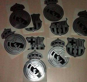 Calcomania Emblema Del Real Madrid Y Barcelona Fc