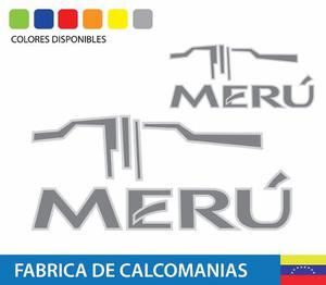 Calcomania Toyota Meru Kit Completo Diseño Original