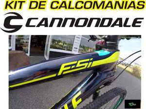 Calcomanias Cannondale Fsi Bicicletas