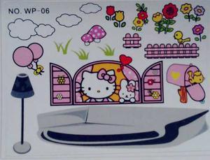 Calcomanias Sticke Vinil Hello Kitty Para Decorar Dormitorio
