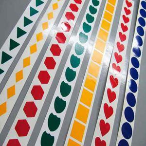 Etiquetas Calcomanias Puntos Colores Vinil Stickers 400 U