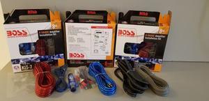 Kit Cable Boss, Cable 8, Sonido, Bajos, Plantas Rca