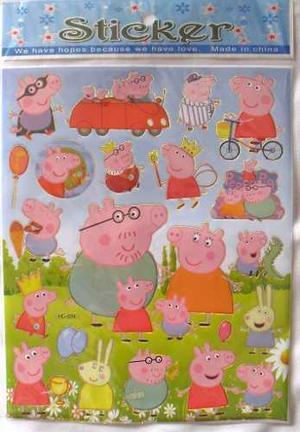 Laminas De Sticker - Calcomanias De Peppa Pig