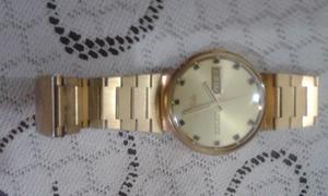 Reloj Original Marca Mido Enchapado En Oro Antiguedad