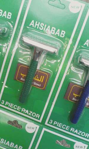 Base Plastica Para Afeitadora Porta Hojilla No Desechable