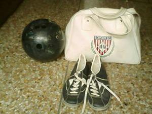 Bola De Bowling Con Esruches Y Zapatos 14 Libras