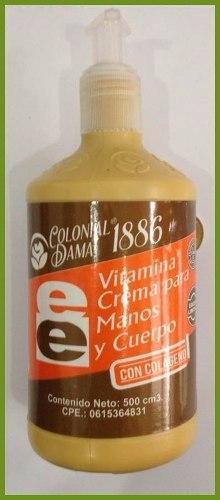 Crema Vitamina E Colageno De Medio Litro