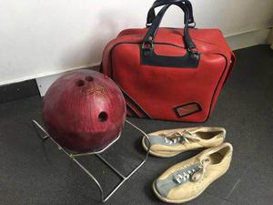 Kit De Bowling: Bola, Zapatos, Base Y Bolso