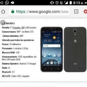 Telefono Celular Zte Maven 3 Liberado Pago En Trums