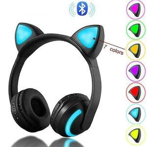 Audífonos Inalambricos Bluetooth Cat Ear Oreja De Gato
