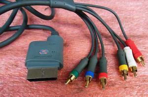 Cable Rca Video Y Audio Xbox 360 Tv-hdtv Original Usado