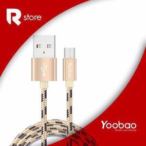 Cable Micro Usb De Carga Rápida Yoobao Yb-423 Gold Ribbon