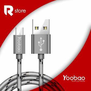 Cable Micro Usb De Carga Rápida Yoobao Yb-423 Grey Ribbon