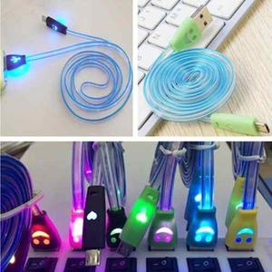 Cable Usb Led Cargador Samsung Blu Huawei 1m