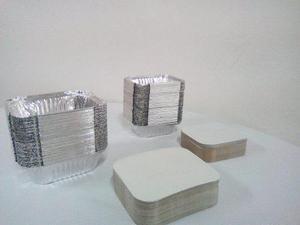 Envases De Aluminio Con Tapa Para Comidas #420/45 Y #250/45