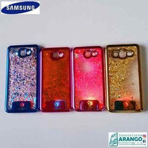 Forro Antigolpe Agua Escarcha Led Samsung J3 J5 Prime
