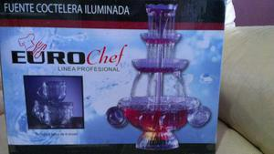 Fuente Coctelera Iluminada Euro Chef Profesional