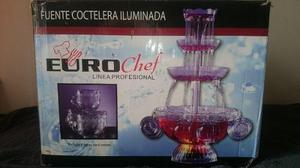 Fuente Coctelera Iluminada Eurochef