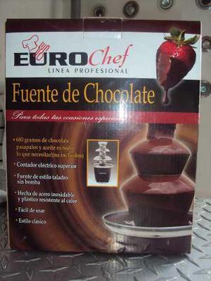 Fuente De Chocolate 3 Niveles Eurocheff 100% Operativ