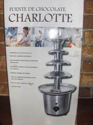 Fuente De Chocolate Charlotte 4 Niveles