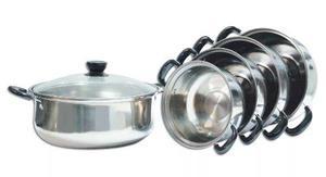 Juego De Ollas Cocina 5 Piezas Acero Inoxidable Soup Pot