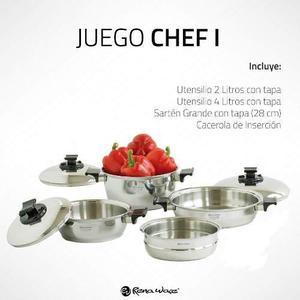 Juego De Ollas Rena Ware De 7 Piezas Chef I