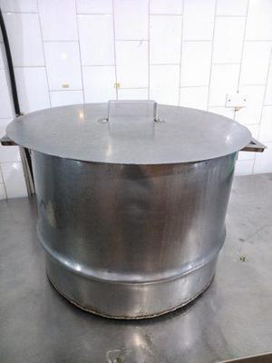 Olla De Acero Inoxidable Con Tapa De Aluminio.