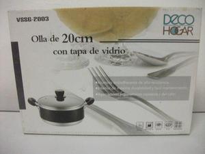 Olla Deco Hogar De 20cm Teflon Tapa Cromo Tienda Virtual
