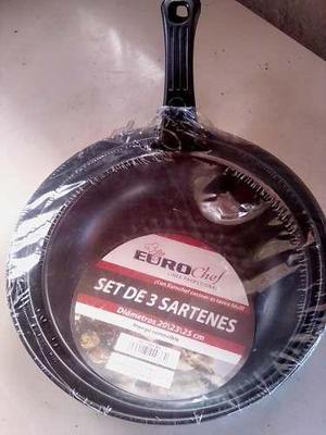 Set De 3 Sartenes Euro Chef