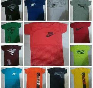 Camisas Nike Puma Reebok Para Niños