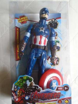 Figura Capitan America Con Luz Marvel Niños Juguete