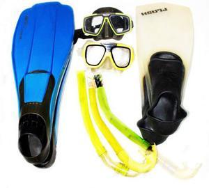 Kit De Buceo Chapaletas Caretas Snorkel Profesional