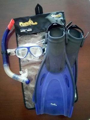 Kit De Buceo O Submarinismo. Careta + Snorkel + Chapaletas